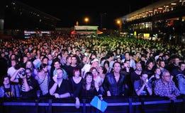Ανεμιστήρες σε μια συναυλία στοκ εικόνες με δικαίωμα ελεύθερης χρήσης