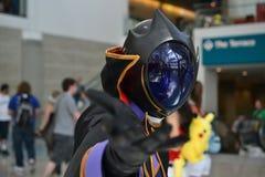 Ανεμιστήρες στο κοστούμι σε ένα Λα Anime EXPO 2012 Στοκ Φωτογραφία
