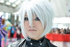 Ανεμιστήρες στο κοστούμι σε ένα Λα Anime EXPO 2012 Στοκ Φωτογραφίες