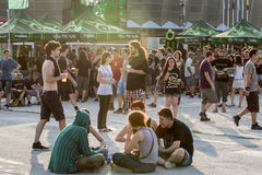 Ανεμιστήρες στο πράσινο φεστιβάλ Tuborg Στοκ Εικόνες