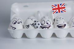 ανεμιστήρες της Αγγλίας ποδοσφαίρου Παγκόσμιο ποδόσφαιρο στοκ φωτογραφία με δικαίωμα ελεύθερης χρήσης