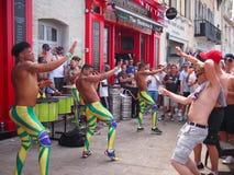 Ανεμιστήρες της Αγγλίας που χορεύουν στη Μασσαλία Στοκ Φωτογραφία