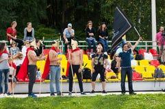 Ανεμιστήρες της ομάδας Spartans Στοκ εικόνες με δικαίωμα ελεύθερης χρήσης
