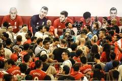 Ανεμιστήρες του Λίβερπουλ FC στη Κουάλα Λουμπούρ Στοκ φωτογραφία με δικαίωμα ελεύθερης χρήσης