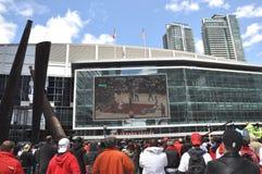 Ανεμιστήρες των Toronto Raptors στοκ εικόνες με δικαίωμα ελεύθερης χρήσης