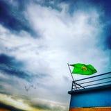 ανεμιστήρες sylhet Μπαγκλαντές της Βραζιλίας βροχερό στοκ φωτογραφία