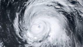 Ανεμοστρόβιλος θύελλας τυφώνα πέρα από τη γη από τη διαστημική, δορυφορική άποψη διανυσματική απεικόνιση