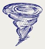 Ανεμοστρόβιλος. Ύφος Doodle ελεύθερη απεικόνιση δικαιώματος