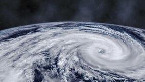Ανεμοστρόβιλος θύελλας τυφώνα πέρα από τη γη από τη διαστημική, δορυφορική άποψη ελεύθερη απεικόνιση δικαιώματος