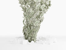 Ανεμοστρόβιλος τραπεζογραμματίων δολαρίων Στοκ Φωτογραφία