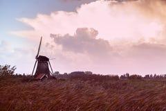 Ανεμόμυλοι σε Kinderdijk Στοκ Φωτογραφίες