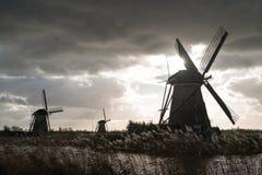 Ανεμόμυλοι Kinderdijk, Κάτω Χώρες Στοκ φωτογραφία με δικαίωμα ελεύθερης χρήσης