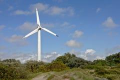 Ανεμόμυλος στους αμμόλοφους της παραλίας Liepeaja Στοκ Φωτογραφίες