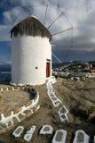ανεμόμυλος mykonos της Ελλάδας Στοκ εικόνες με δικαίωμα ελεύθερης χρήσης