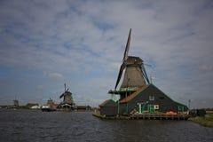 Ανεμόμυλοι σε Zaanse Schans, Κάτω Χώρες Στοκ φωτογραφία με δικαίωμα ελεύθερης χρήσης