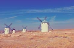 Ανεμόμυλοι στο Λα Mancha, Ισπανία Στοκ Εικόνα