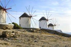 Ανεμόμυλοι της Μυκόνου, Chora, Ελλάδα Στοκ φωτογραφία με δικαίωμα ελεύθερης χρήσης