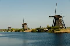 Ανεμόμυλοι - Kinderdijk - Κάτω Χώρες Στοκ Εικόνες