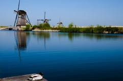 Ανεμόμυλοι - Kinderdijk - Κάτω Χώρες Στοκ φωτογραφία με δικαίωμα ελεύθερης χρήσης