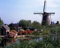 Ανεμόμυλοι, Kinderdijk, Ολλανδία. Στοκ φωτογραφίες με δικαίωμα ελεύθερης χρήσης