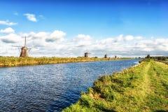 Ανεμόμυλοι Kinderdijk Στοκ φωτογραφίες με δικαίωμα ελεύθερης χρήσης