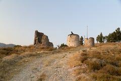 Ανεμόμυλοι Ortakent Στοκ Εικόνες