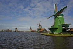 Ανεμόμυλοι Zaanse Schans, Κάτω Χώρες Στοκ Εικόνες