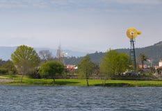 Ανεμόμυλος σε Ponte de Λίμα Στοκ εικόνες με δικαίωμα ελεύθερης χρήσης