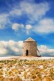 Ανεμόμυλος στην παραλία Gyra, Λευκάδα Στοκ Εικόνα