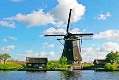 ανεμόμυλος της Ολλανδίας kinderdijk Στοκ φωτογραφία με δικαίωμα ελεύθερης χρήσης