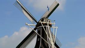 Ανεμόμυλος του Adriaan στο Χάρλεμ, Κάτω Χώρες, απόθεμα βίντεο