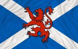 Ανεξάρτητο λιοντάρι αχαλίνωτο σε Saltire, Σκωτία απεικόνιση αποθεμάτων
