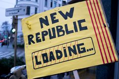 Ανεξαρτησία για την Καταλωνία στοκ φωτογραφία με δικαίωμα ελεύθερης χρήσης