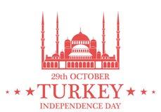 ανεξαρτησία ημέρας ανασκόπησης grunge αναδρομική Τουρκία Στοκ Φωτογραφίες