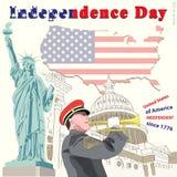 ανεξαρτησία ημέρας ανασκόπησης grunge αναδρομική ελεύθερη απεικόνιση δικαιώματος