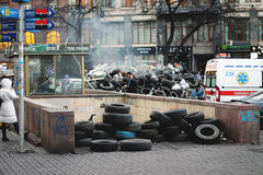 Ανεξαρτησία: η αξιοπρέπεια της επανάστασης Κίεβο 2013 στοκ εικόνες