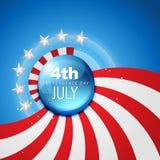 ανεξαρτησία Ιούλιος της 4$ης ημέρας διανυσματική απεικόνιση