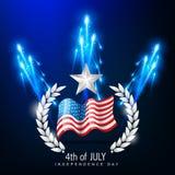 ανεξαρτησία Ιούλιος της 4$ης ημέρας ελεύθερη απεικόνιση δικαιώματος