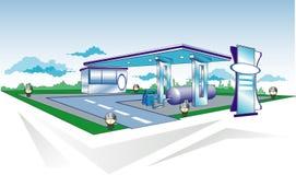 ανεφοδιασμός σε καύσιμα διανυσματική απεικόνιση