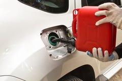 Ανεφοδιασμός σε καύσιμα της βενζίνης Στοκ εικόνα με δικαίωμα ελεύθερης χρήσης