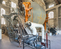 Ανελκυστήρας ατμού Nordberg, ορυχείο του Quincy, εθνικό ιστορικό πάρκο Keweenaw, MI στοκ εικόνα