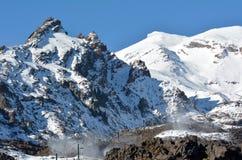 Ανελκυστήρας για να τοποθετήσει τον τομέα σκι Ruapehu Στοκ φωτογραφίες με δικαίωμα ελεύθερης χρήσης