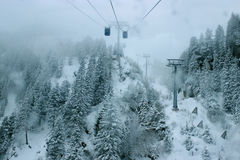 Ανελκυστήρας γονδολών στις Άλπεις, Zillertal στην Αυστρία Στοκ φωτογραφίες με δικαίωμα ελεύθερης χρήσης