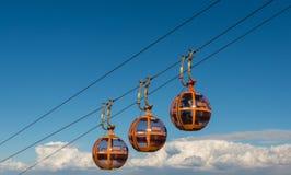 Ανελκυστήρας καλωδίων στο βουνό της Carmel Στοκ Φωτογραφίες