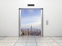 Ανελκυστήρας στην πόλη διανυσματική απεικόνιση