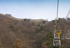 Ανελκυστήρας στο Σινικό Τείχος της Κίνας Στοκ Εικόνες