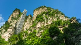 Ανελκυστήρας Bailong σε Zhangjiajie, Κίνα στοκ εικόνες