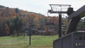 Ανελκυστήρες βουνών Mohawk το φθινόπωρο (2 5) απόθεμα βίντεο