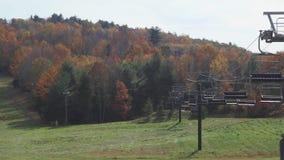 Ανελκυστήρες βουνών Mohawk το φθινόπωρο (3 5) απόθεμα βίντεο