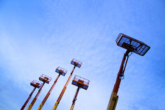 Ανελκυστήρες και μπλε ουρανός 2 Στοκ φωτογραφία με δικαίωμα ελεύθερης χρήσης